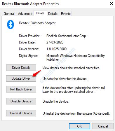 Bluetooth Update Driver