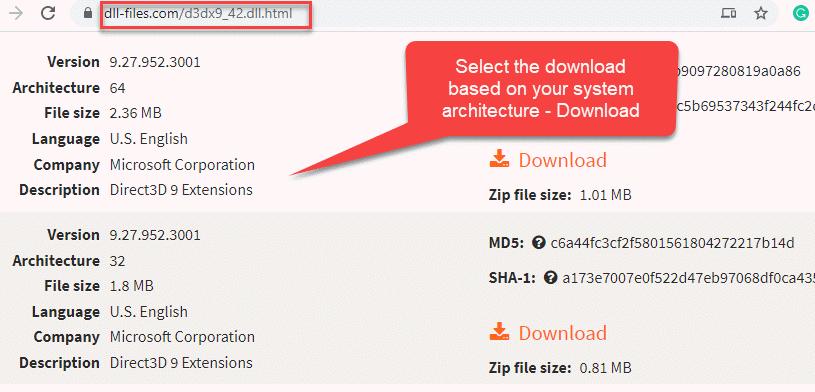Browser Visit Dll Download Website Select Download Based On System Type Download
