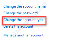 Change Account Type