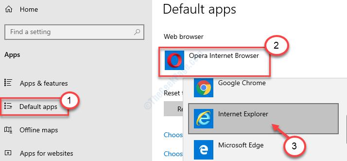 Default Browser To Internet Explorer