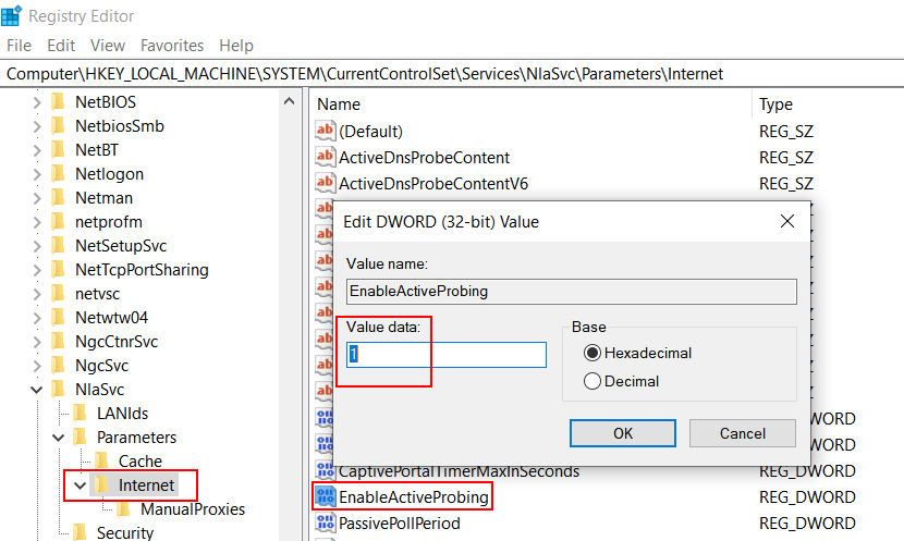 Enable Active Probing