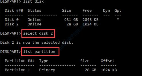 Select Disk 2