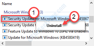 Uninstall Update