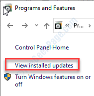 View Installed Update