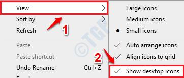 1 Show Desktop Icons