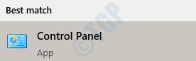 1 Start Control Panel