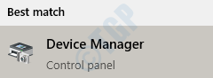 1 Start Menu Search Device Manager