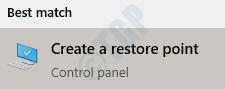 10 Create Restore Point