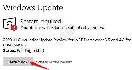 11 Windows Update Restart Now