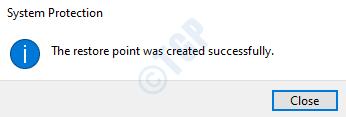 13 Restore Point Success