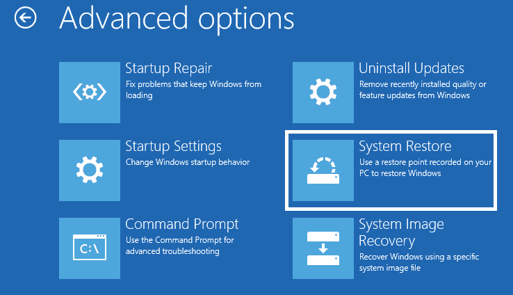 14 Startup Repair Startup System Restore