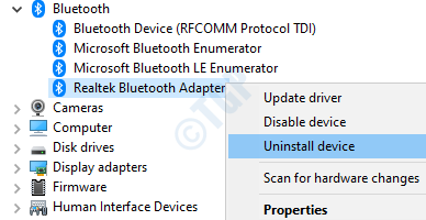 17 Uninstall Bluetooth Device