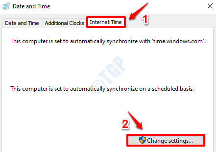 19 Internet Time Settings Change