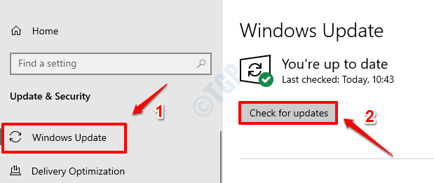 2 Check Windows Updates