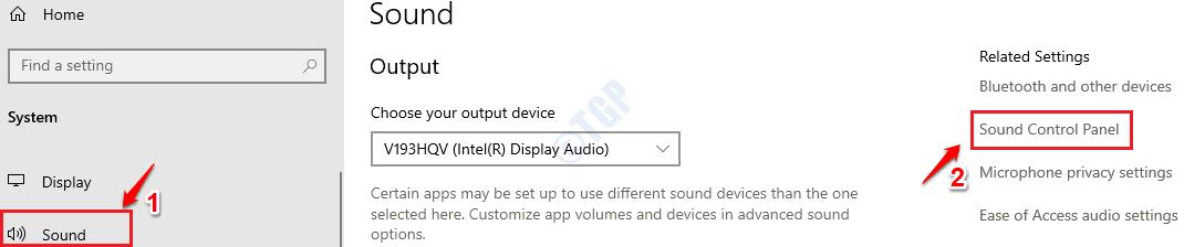 2 Sound Control Panel
