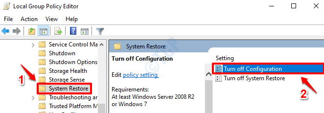 2 Turn Off Configuration