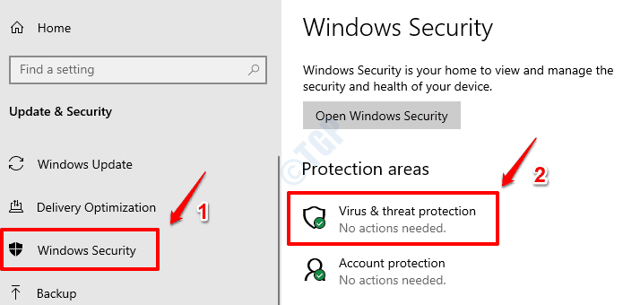2 Virus And Threat Protection