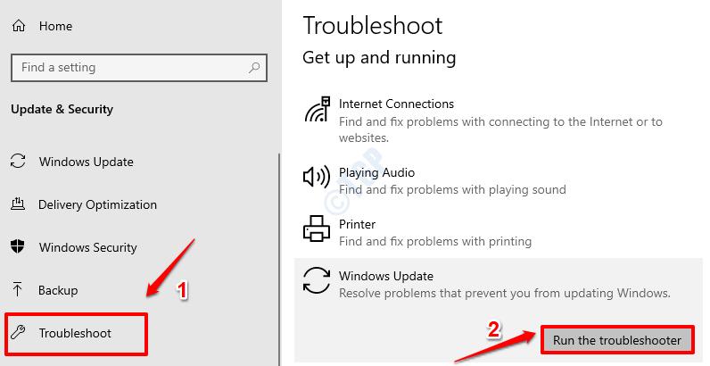 2 Windows Update Troubleshoot