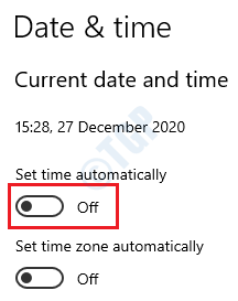 22 Turn Off Auto Time