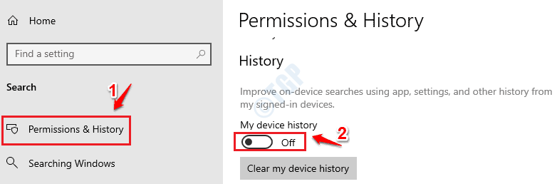 3 Device History Off