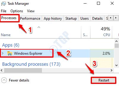 3 Restart Windows Explorer