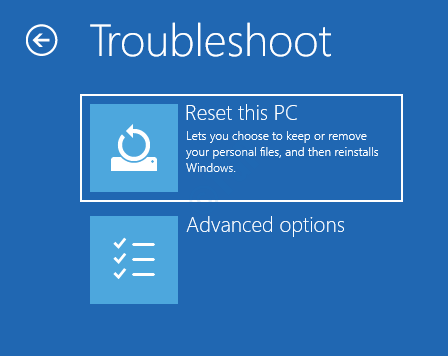 4 Troubleshoot Reset This Pc Advanced Options Startup Repair
