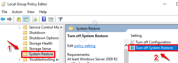 4 Turn Off System Restore