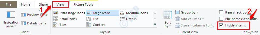 5 File Explorer Enable Hidden Items