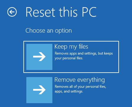 5 Reset Pc Keep Files Startup Repair