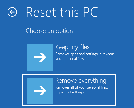 5 Reset Pc Remove Everything Startup Repair
