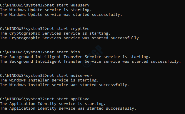 7 Start Services