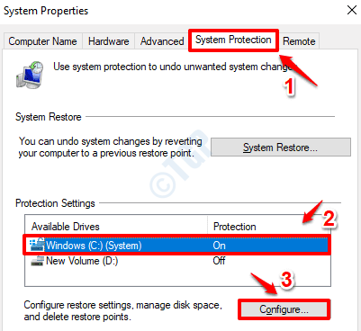 8 System Protection Configure