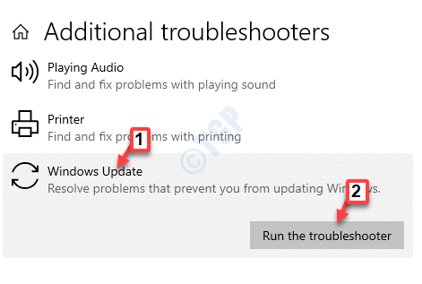 Additional Troubleshooters Get Up And Running Windows Update Run The Troubleshooter