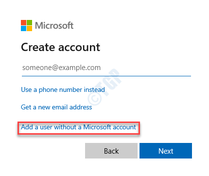 Create Account Add A User Without A Microsoft Account