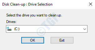 Disk Clean Up Prompt Select The Drive You Want To Clean Up Ok