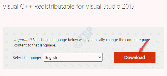 Microsoft Official Link For Visual C++ Redistributable For Visual Studio 2015 Download