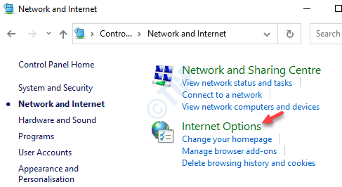 Network And Internet Internet Options