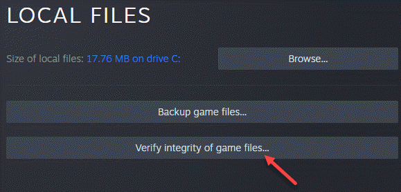 Properties Left Side Local Files Verify Integrity Of Game Files