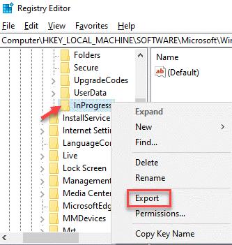 Registry Editor Inprogress Right Click Export