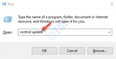 Run Command Control Update Enter