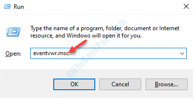 Run Command Eventvwr.msc Enter