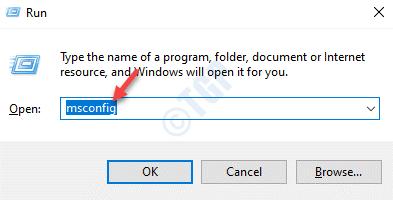 Run Command Msconfig Enter
