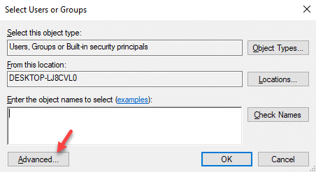Select Users Or Groups Advanced