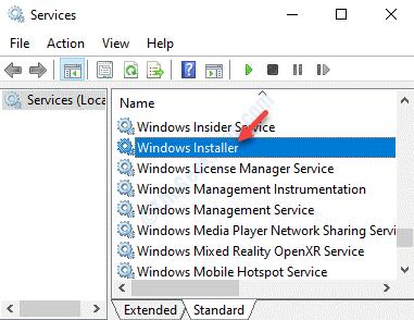 Services Name Windows Installer