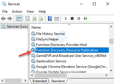 Services Names Function Discovery Resource Publication Double Click