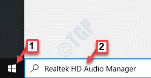 Start Windows Search Realtek Hd Audio Manager