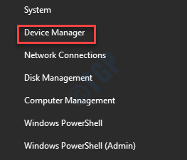 Start Right Click Device Manager