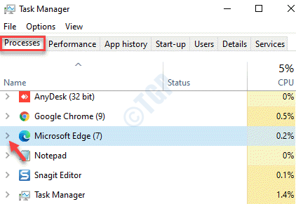 Task Manager Processes Microsoft Edge Expand