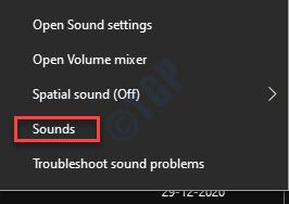 Taskbar Speaker Icon Right Click Sounds