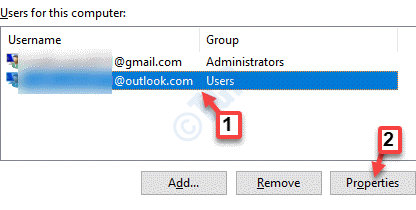 User Accounts Users Select Newly Created Account Properties